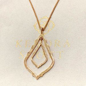 New Kendra Scott Simon Rose Gold Necklace